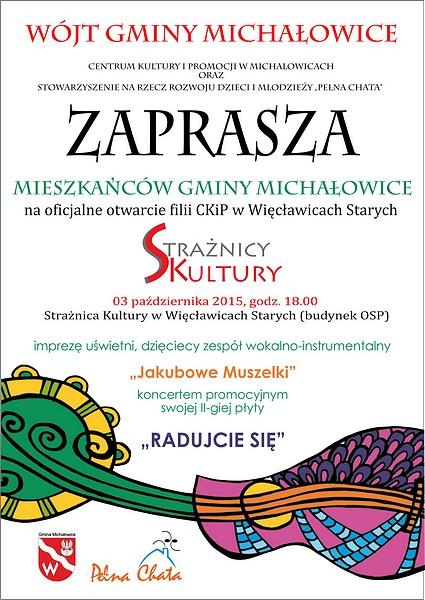 Oficjalne otwarcie Strażnicy Kultury i koncert promocyjny nowej płyty Jakubowych Muszelek