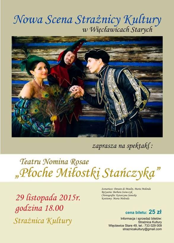 Zaproszenie na spektakl teatralny w Strażnicy Kultury