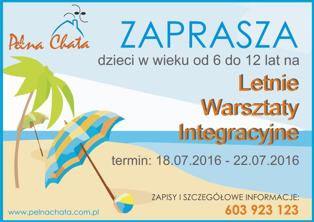 Zapisy na Letnie Warsztaty Integracyjne Pełnej Chaty!
