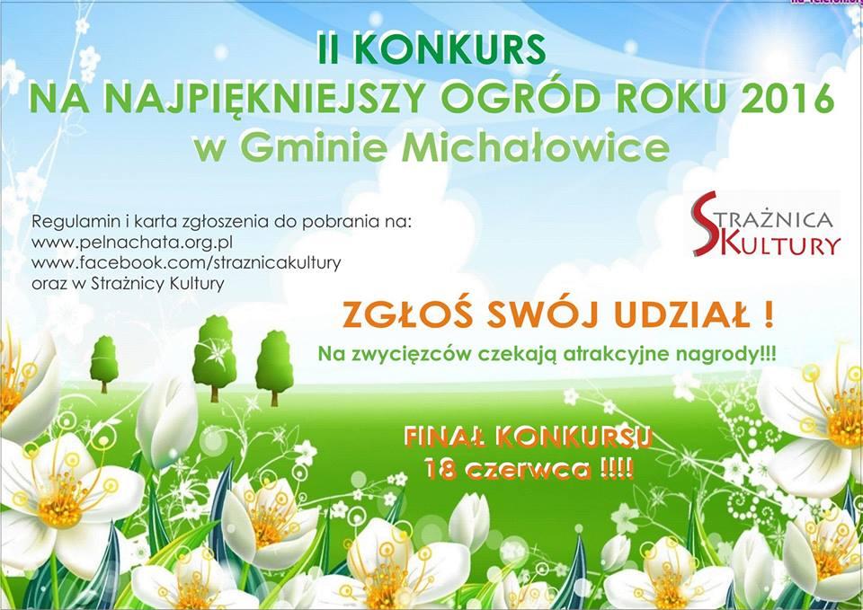 II edycja Konkursu na Najpiękniejszy Ogród w Gminie Michałowice!