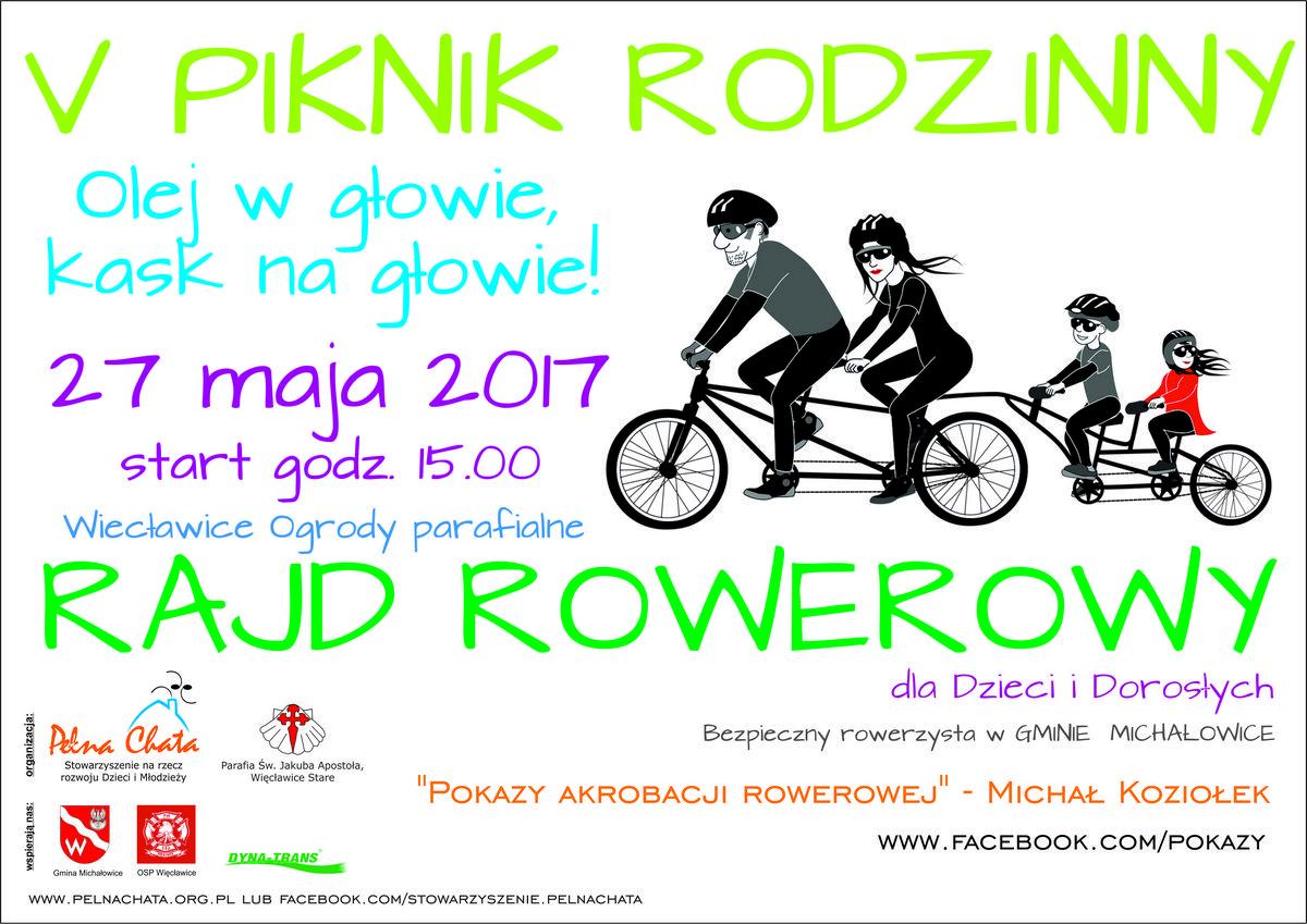 Zapraszamy na V piknik rowerowy i Dzień Dziecka 27 maja w Więcławicach