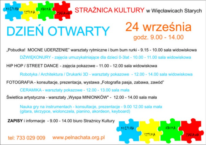 Dzień Otwarty Strażnicy Kultury – szczegóły
