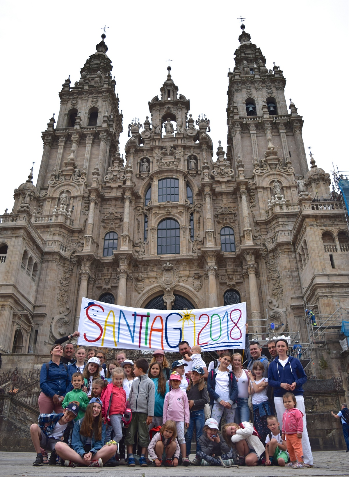 Jakubowe Muszelki w Santiago de Compostela
