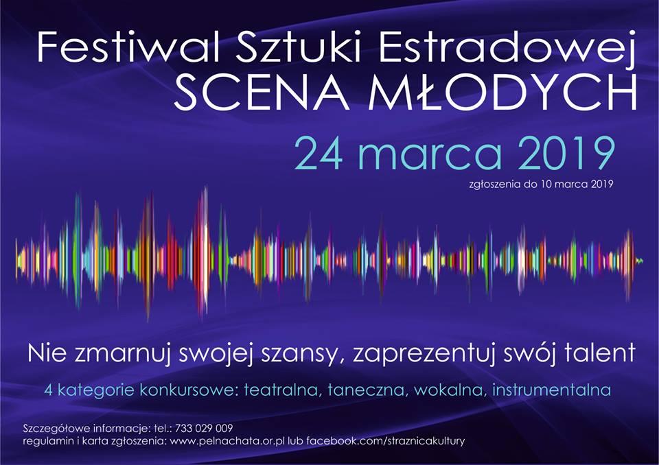 """Festiwal Sztuki Estradowej """"SCENA MŁODYCH"""" 2019"""